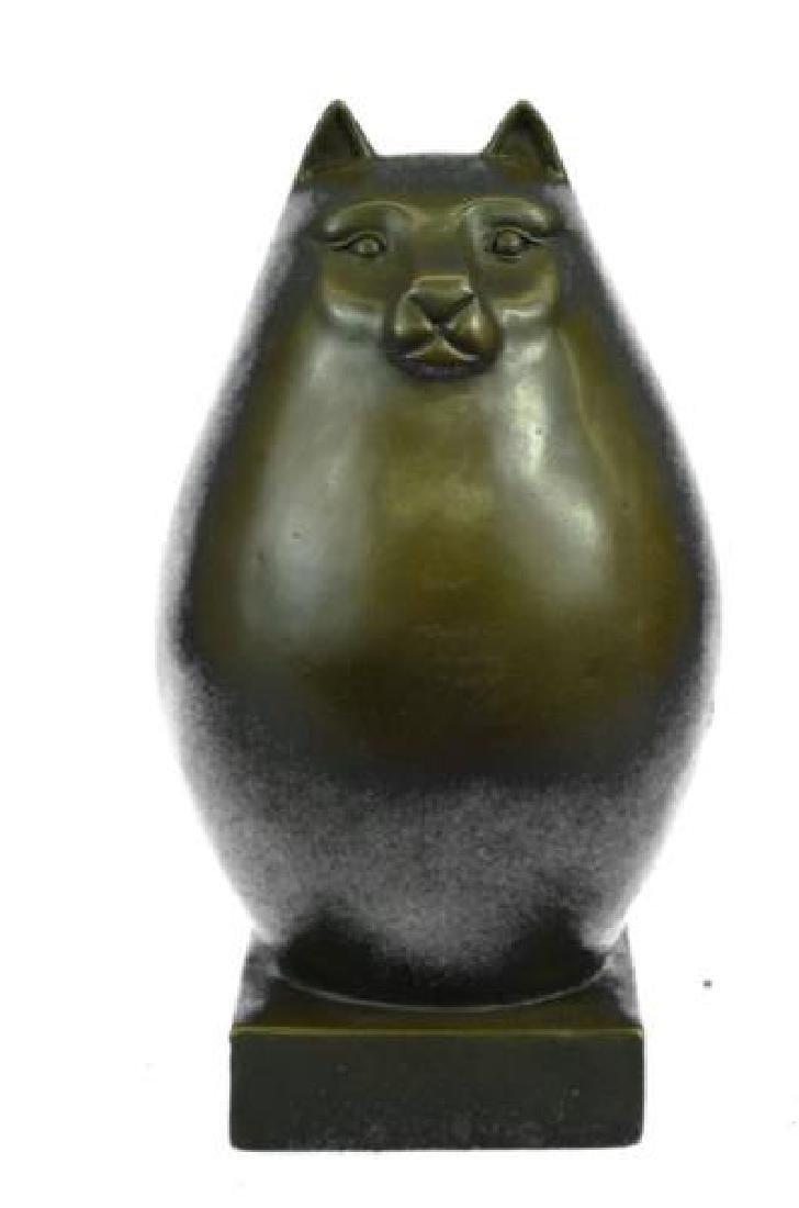 Modern Art Bronze Fat Cat Bronze Sculpture
