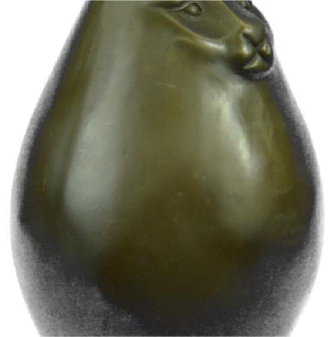 Modern Art Bronze Fat Cat Bronze Sculpture - 4