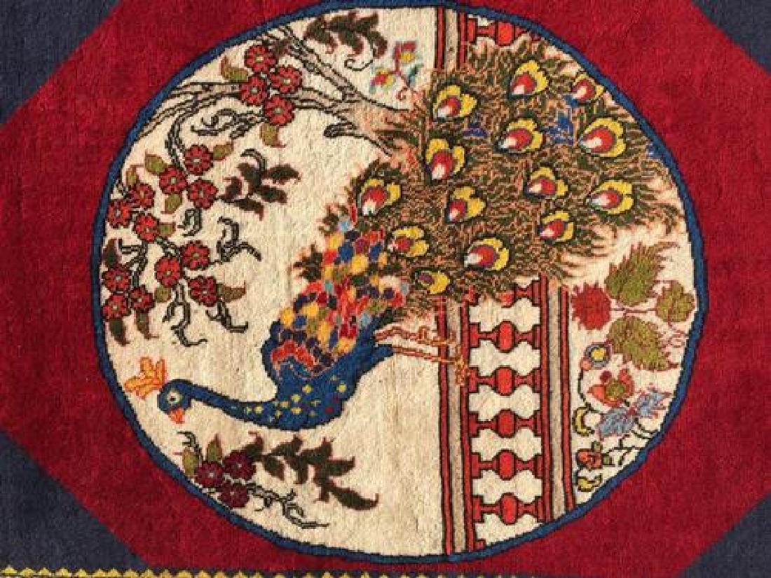 Lovely All Natural Hand woven Persian Arak Rug - 3