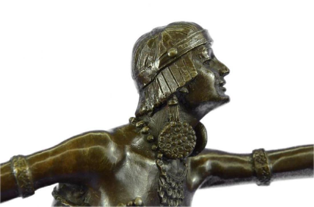 Stunning Dancer on Marble Bronze Statue - 6