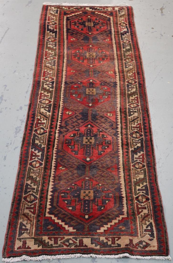 Handmade Semi Antique Persian Heriz 3.4x10.9