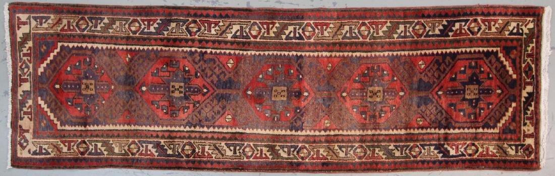 Handmade Semi Antique Persian Heriz 3.4x10.9 - 2