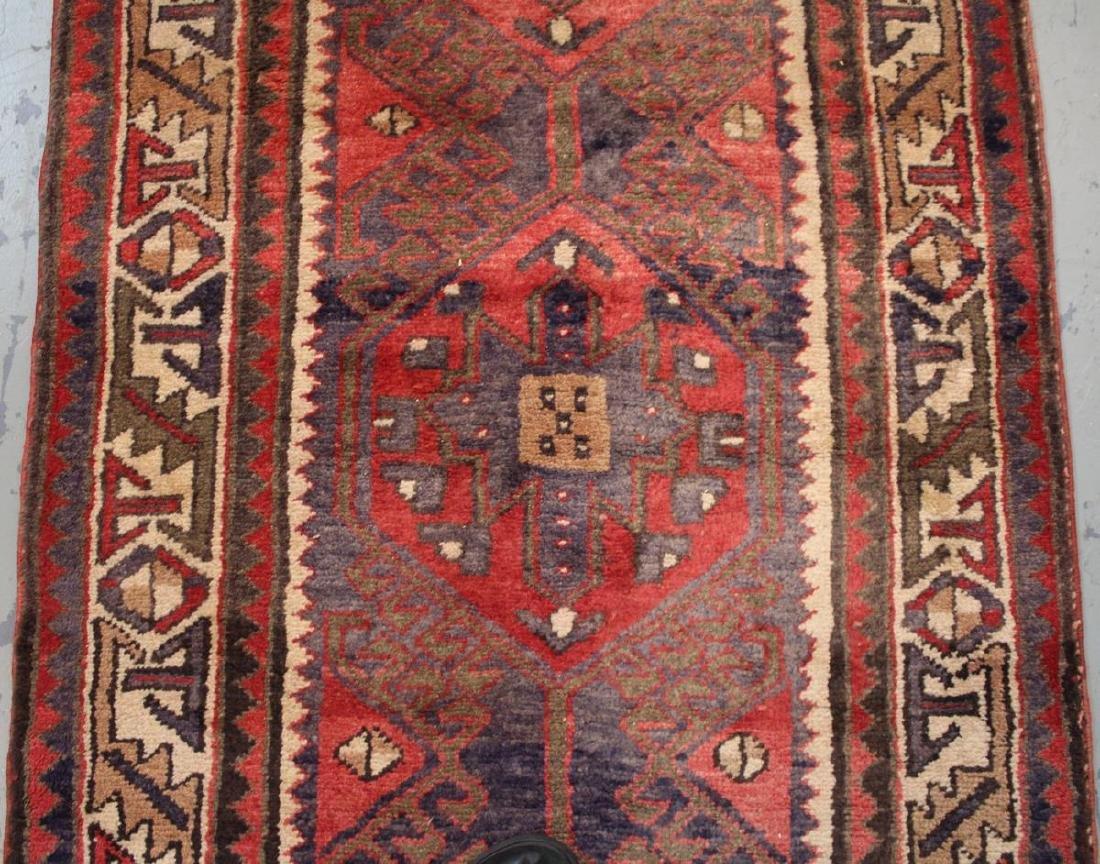 Handmade Semi Antique Persian Heriz 3.4x10.9 - 3