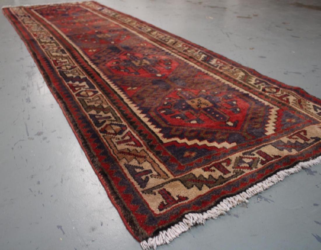 Handmade Semi Antique Persian Heriz 3.4x10.9 - 7