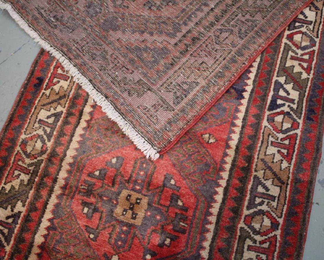 Handmade Semi Antique Persian Heriz 3.4x10.9 - 8