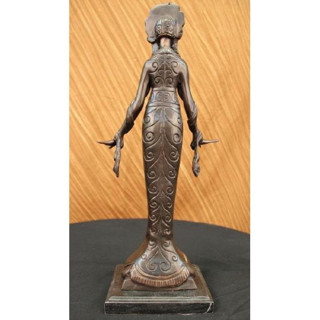 Native American Indian Girl Bronze Sculpture - 3