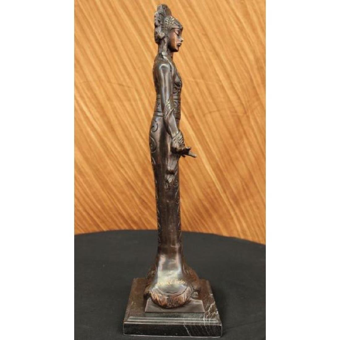 Native American Indian Girl Bronze Sculpture - 4