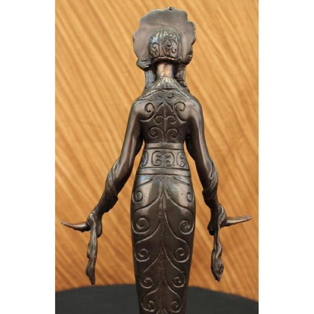 Native American Indian Girl Bronze Sculpture - 6