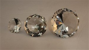Clear Crystal Trio Diamonts - Set of 3