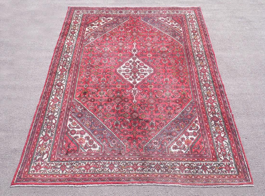 Outstanding Semi Antique Persian Hosseinabad 6.9x9.11