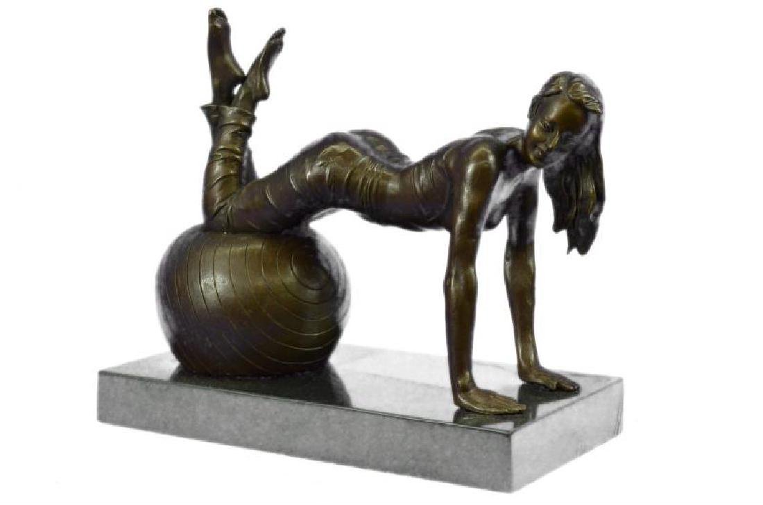 Vitaleh Exotic Stripper Nude Bronze Art Deco Sculpture