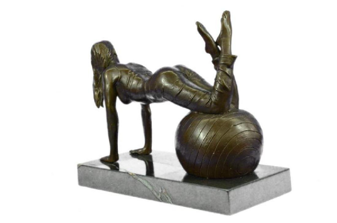 Vitaleh Exotic Stripper Nude Bronze Art Deco Sculpture - 4