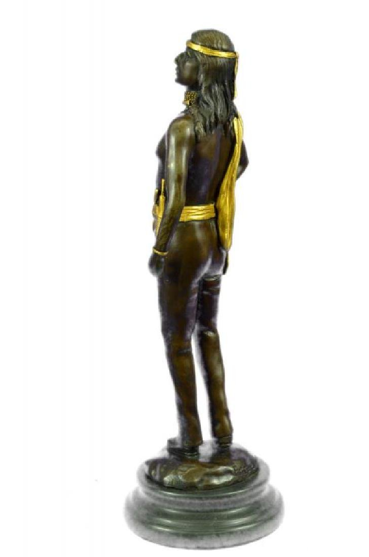 Gold Patina Native Indian Prince Bronze Sculpture - 2