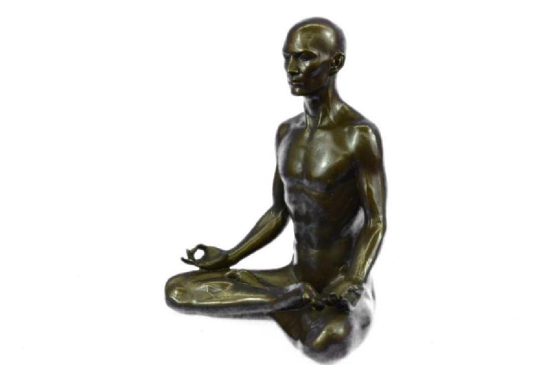 Fisher Yoga Teacher Bronze Sculpture Hot Cast Figurine