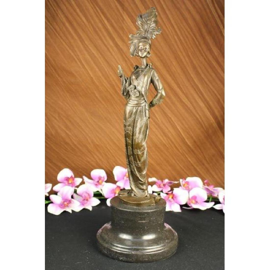 Milo 1920 Classy Woman Bronze Sculpture Art Nouveau