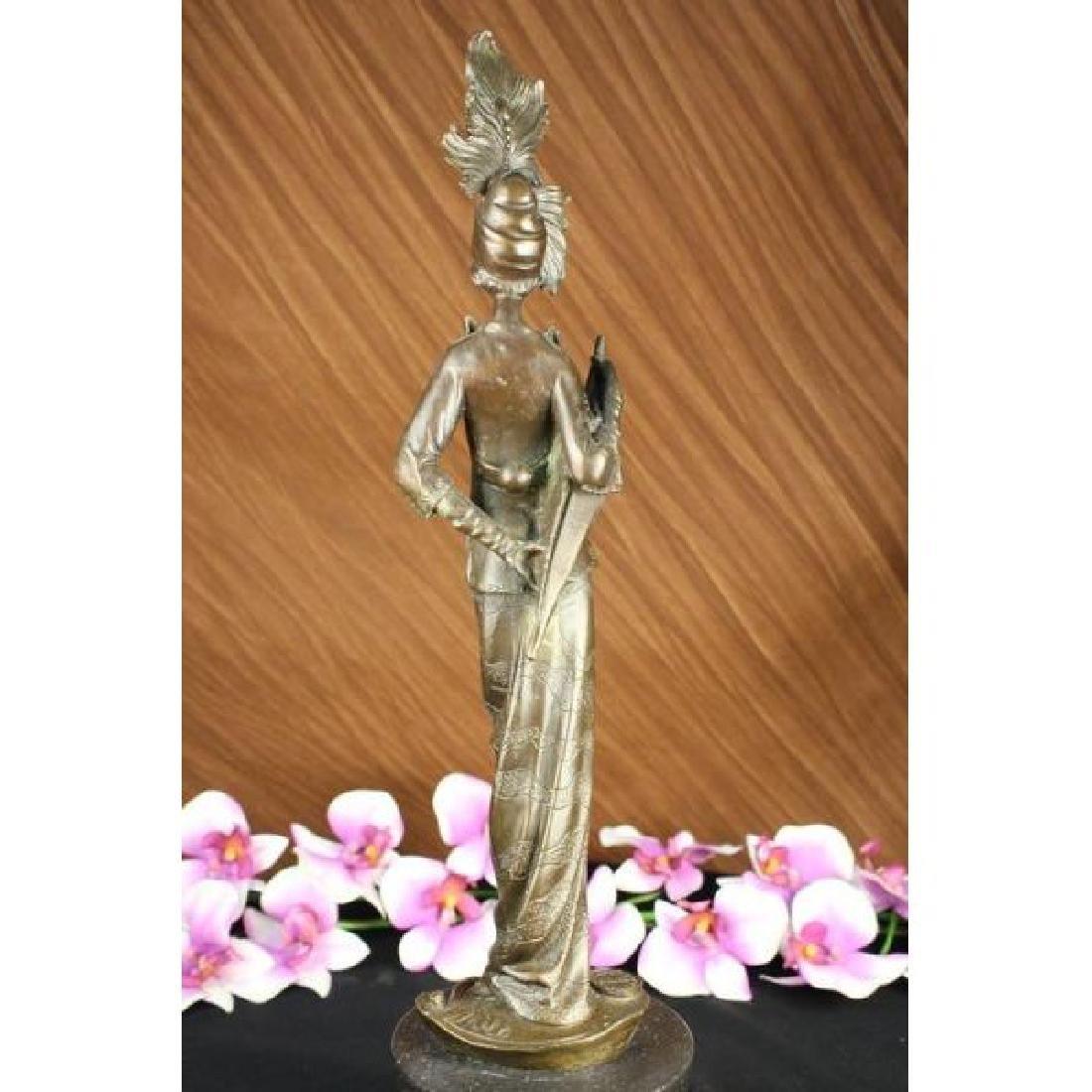 Milo 1920 Classy Woman Bronze Sculpture Art Nouveau - 2