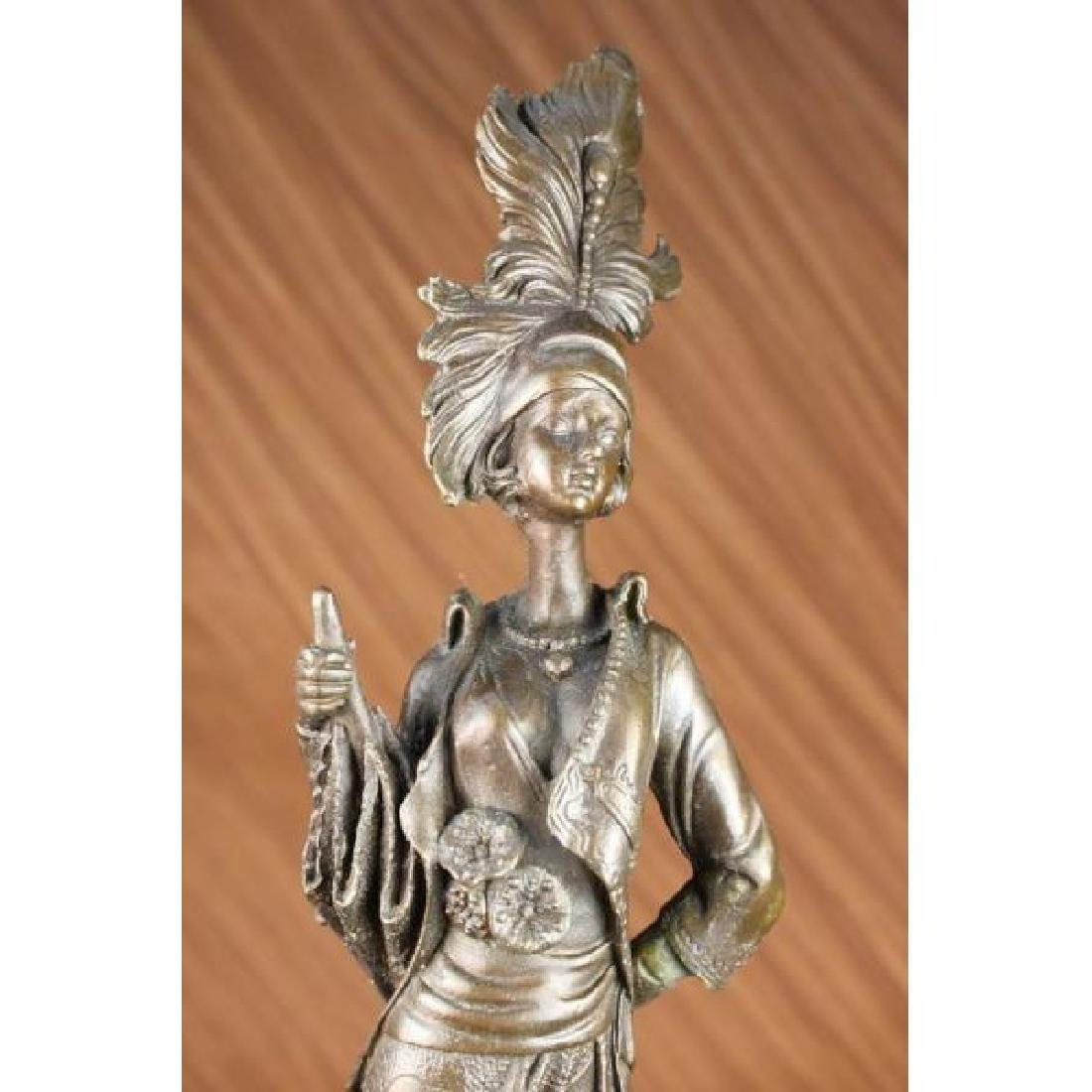 Milo 1920 Classy Woman Bronze Sculpture Art Nouveau - 5