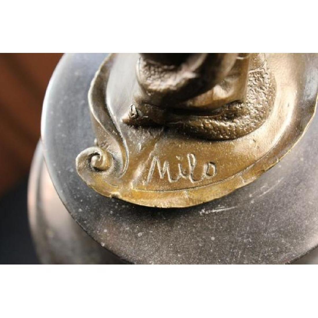 Milo 1920 Classy Woman Bronze Sculpture Art Nouveau - 6