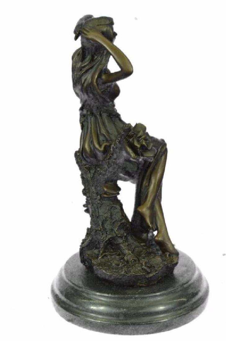 Handmade Bronze Statue Sculpture Sexy Lady Art Nouveau - 4