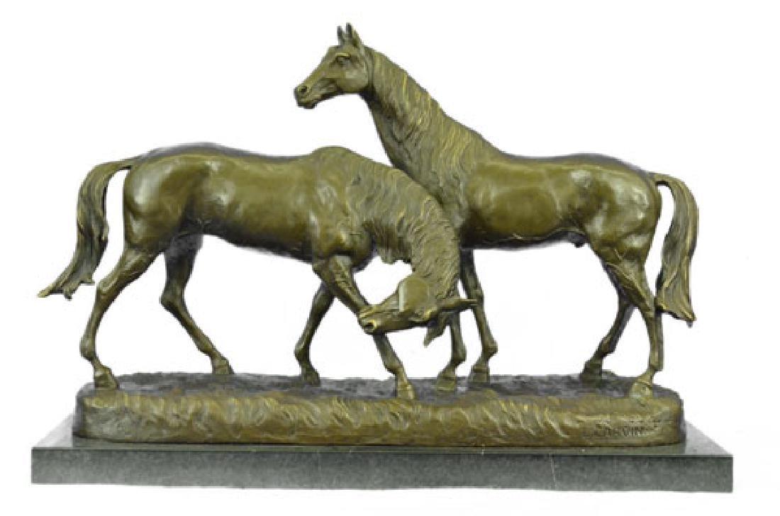 Horses in Love Bronze Statue