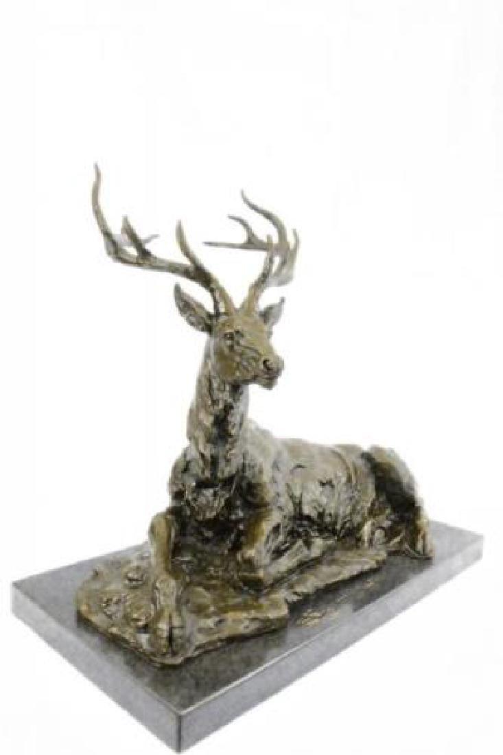 Elk, Stag, Buck, Deer, Lodge, Bronze Statue