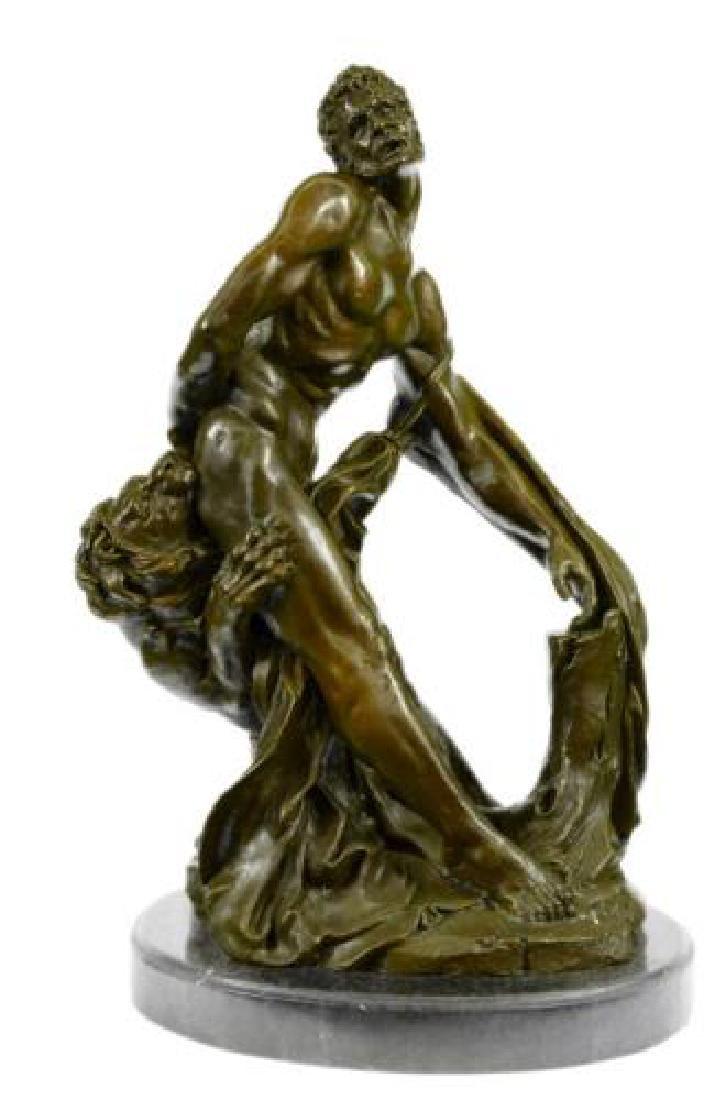 Puget Greek Wrestler Croton Bronze Statue
