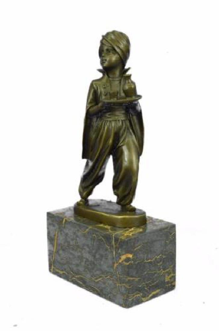 Little Indian Boy Alibaba The Server Bronze Sculpture