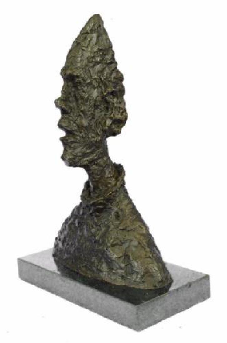 Abstract Man Bust Art Deco Bronze Sculpture