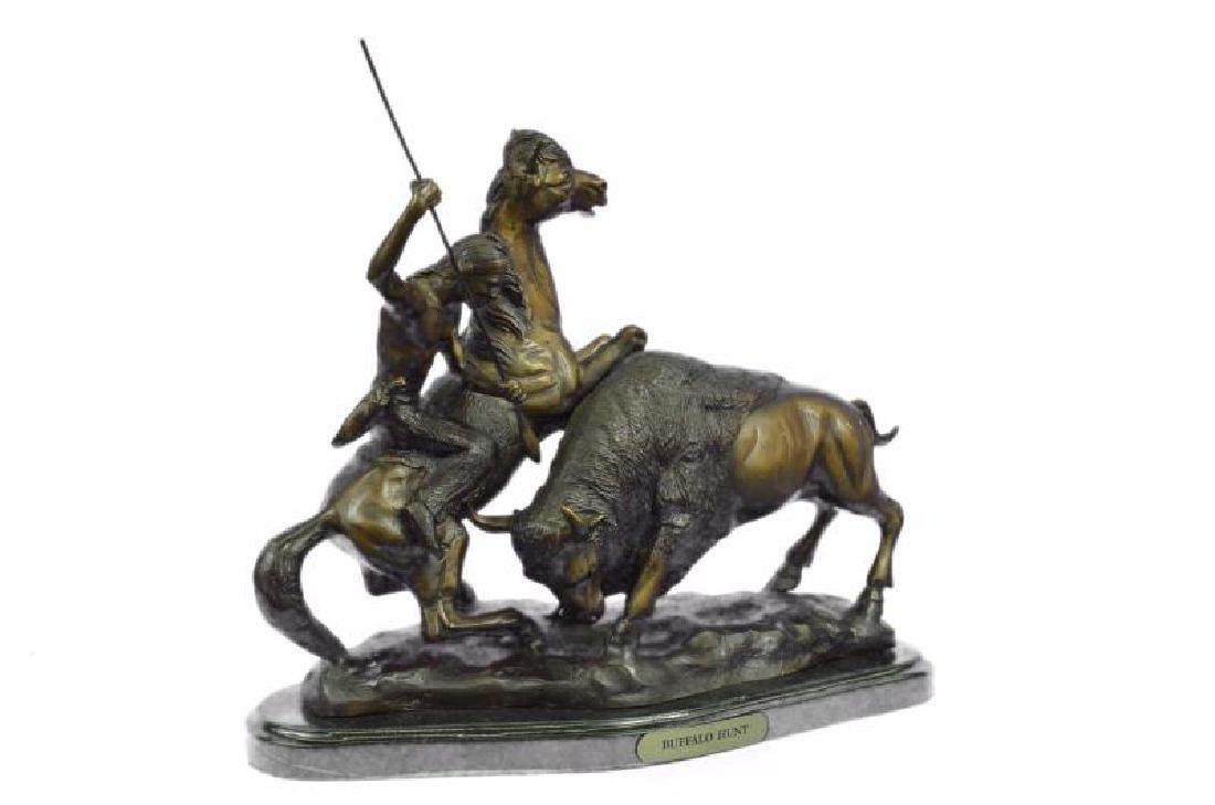 American Buffalo Bronze Statue