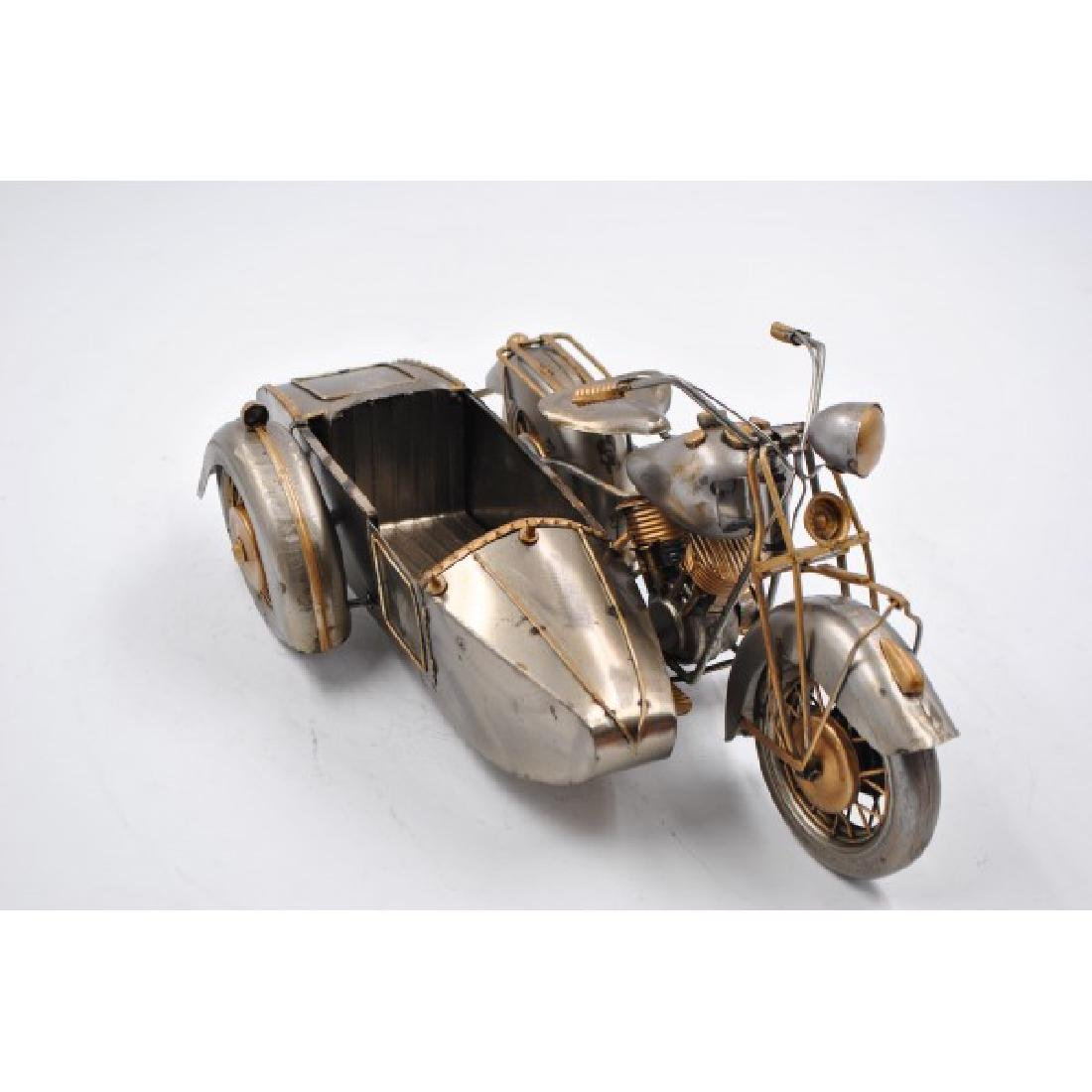 Handmade Metal Halley Motorcycle