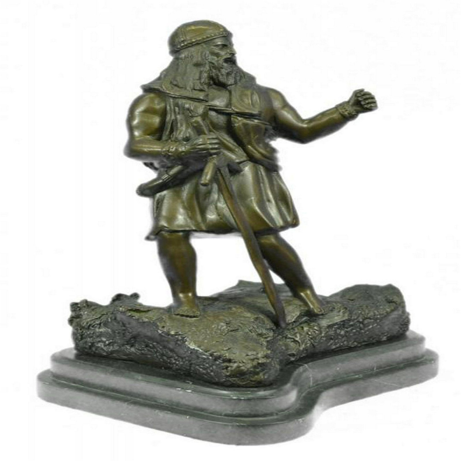 Viking Warrior With Sword Bronze Statue