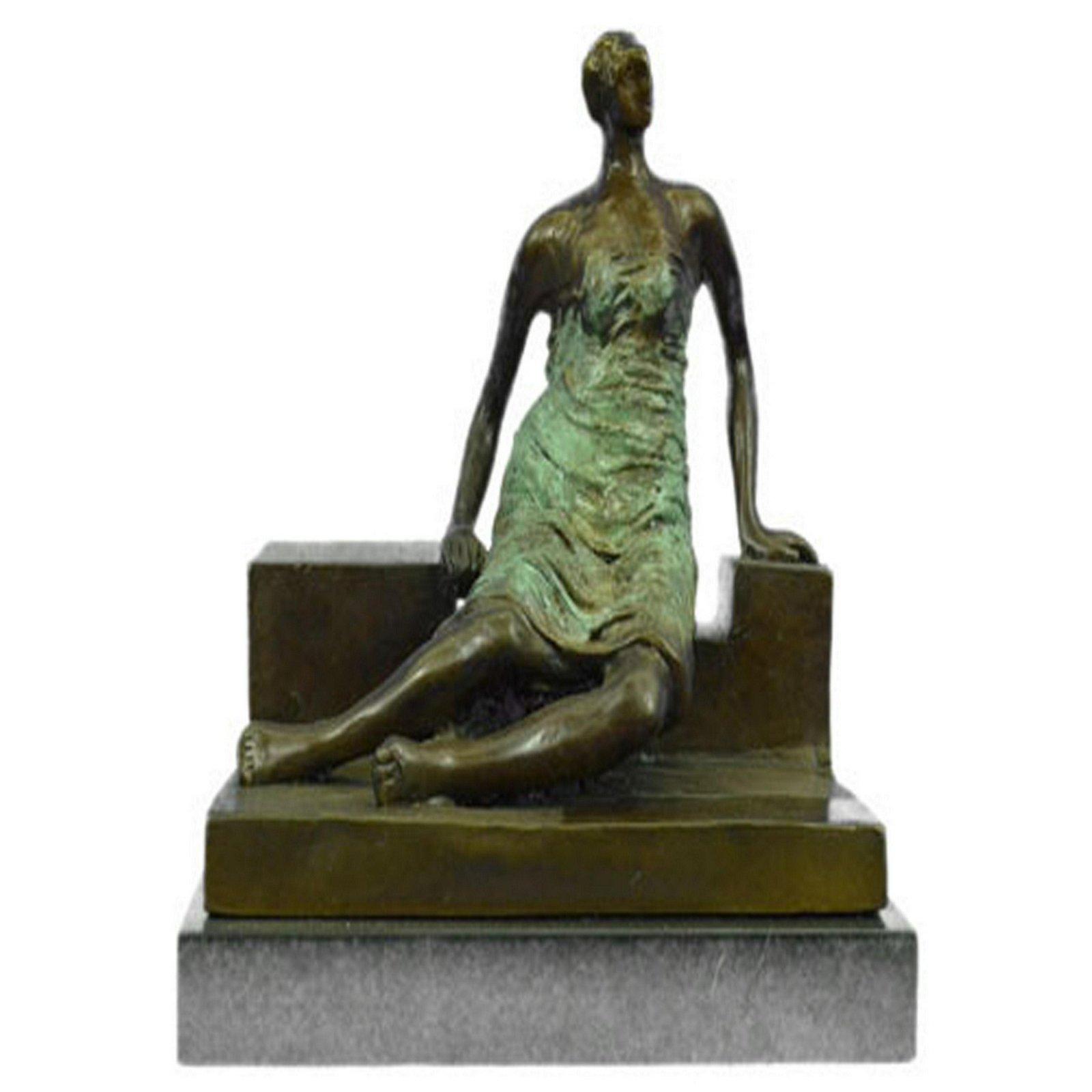 Hey Moore Abstract Heavy Figurine Female Bronze