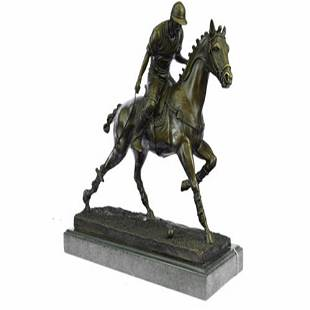 Polo Player Bronze Sculpture