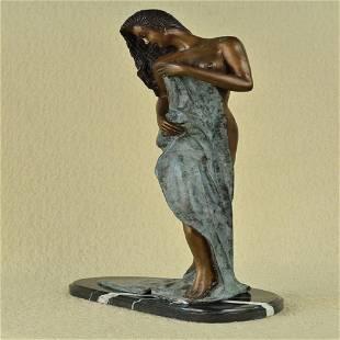 Naked Sea Goddess Bronze Sculpture