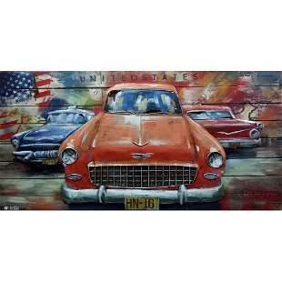3D Car Wall Mount Art painting Artwork