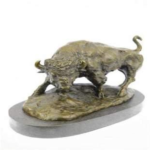 American Buffalo Bull Bronze Sculpture