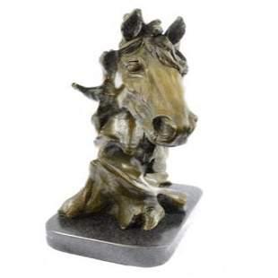 Gorgeous Bust Horse Head Bronze Sculpture