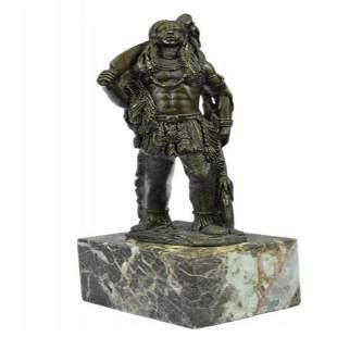 American Warrior Bronze Sculpture
