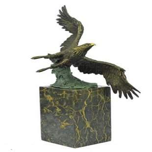 American Bald Eagle Bronze Statue