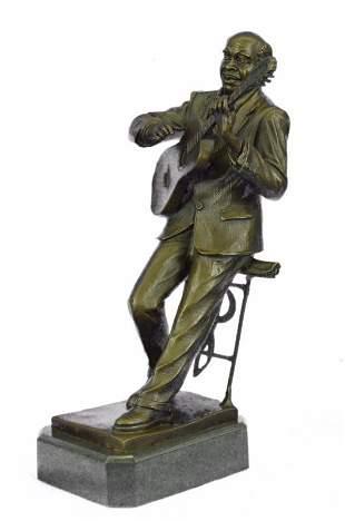 Musician Guitar Player Bronze Statue