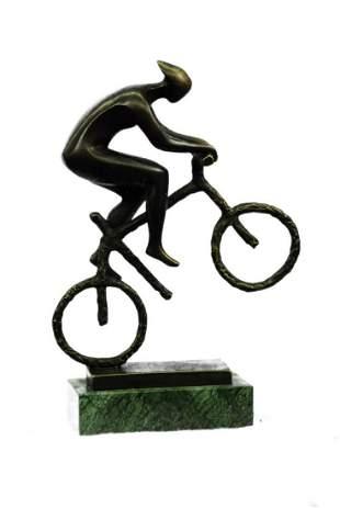 Cyclist Bronze Sculpture