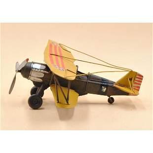 US World War II Retro Biplane Metal Airplane