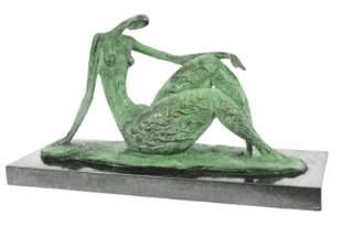 Modern Female Bronze Statue