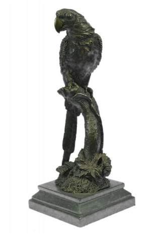 Hot Cast Brazilian Parrot Bronze Sculpture