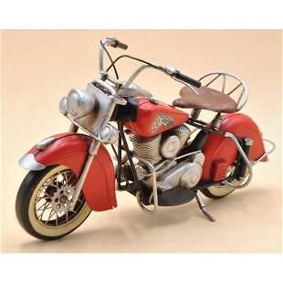 Metal Material Red Harley Davidson Indian Motorcycle