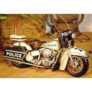 Decorative Police Motorcycle Collectible Artwork