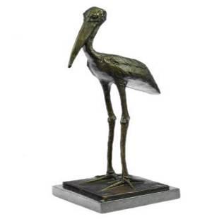 Stork Exotic Bird Bronze Sculpture