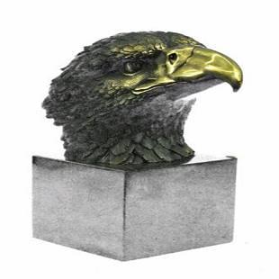 Magnificent American Bald Eagle Bronze Sculpture