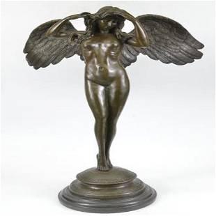 Descending Night Bronze Sculpture