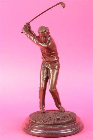 Happy Golfer Tee Off Bronze Sculpture